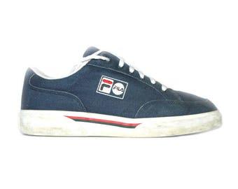 90's Retro Fila canvas sneakers