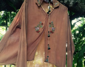 Vintage 70's Indian embroidered blouse