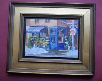 Jeffrey's Grocery, restaurant, New York City, original oil painting