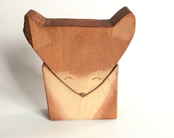 Fox Block Stacking Toy, Nesting Toy, Fox, Wood Toy
