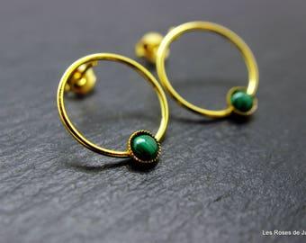 Earrings graphic circle gold earrings