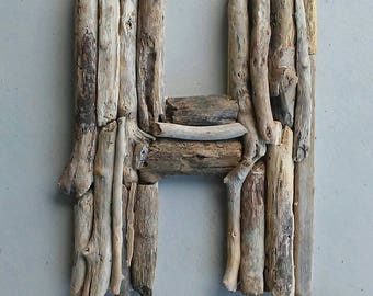 Large Letter H, Driftwood Letter, Wood Letter, Rustic Wedding Gift, Big Letter, Driftwood Sign, Reclaimed Alphabet Letter, Housewarming Gift
