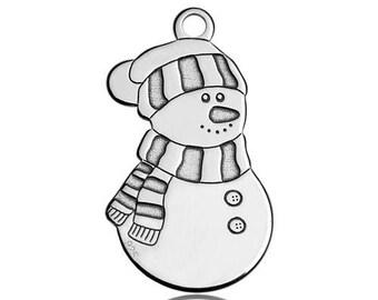 Charm Snowman Silver 925