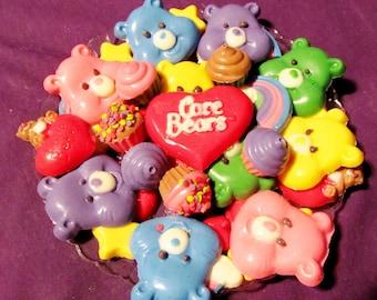 Care Bear chocolates candy trays