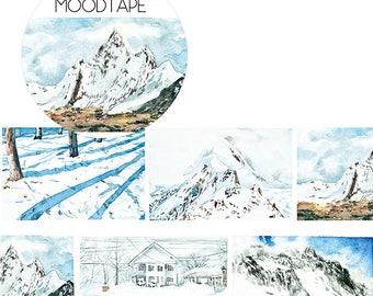 2017 Nov. 47mm Washi tape Masking Tape / Snow landscape , deco tape planner