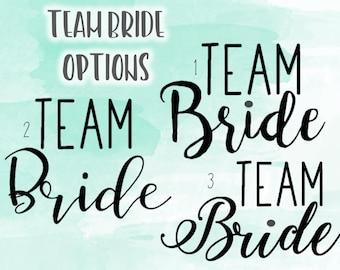 SALE Team Bride or Groom Wedding   Bridal Party Vinyl Decal Car Decal Tumbler YETI Decal