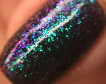 NEW/ Deep Space/Handmade Vegan Glitter Nail Polish