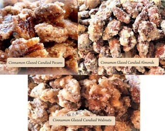 Cinnamon Glazed Candied Nuts Gift Boxes