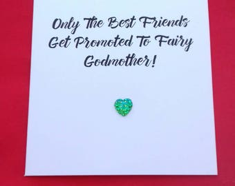 Only The Best Friends Get Promoted To Fairy Godmother, Card For Godmothers, Christening Baptism Card, Will You Be Godmother,