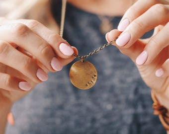 Customized Gold Circle Necklace