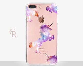 Unicorn iPhone 7 Plus Case - Clear Case - For iPhone 8 - iPhone X - iPhone 7 Plus - iPhone 6 - iPhone 6S - iPhone SE Transparent - Samsung
