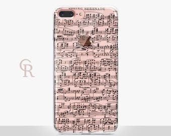 Music iPhone 8 Case - Clear Case - For iPhone 8 - iPhone X - iPhone 7 Plus - iPhone 6 - iPhone 6S - iPhone SE Transparent - Samsung S8 Plus