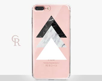 Marble Clear Phone Case - For iPhone 8, 8 Plus, X, iPhone 7 Plus, 7, SE, 5, 6S Plus, 6S,6 Plus, Samsung S8,S8 Plus, S7, S7 Edge Transparent