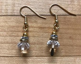 Crystal pumpin earrings