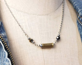 Dainty .22 Caliber Bullet Casing Necklace
