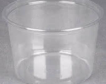 16oz Plastic Containers with Lids 96pcs