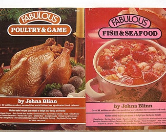 Vintage Cookbooks Fabulous Poultry Game and Fish Seafood by Johna Blinn