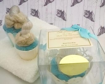 Beach Bum Bath Cupcake With Bubble Bath Frosting Sun and Sand Scent