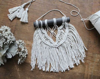 Macrame Wall Hanging | Mini Macrame | Tapestry | Modern Macrame | Mini Wall Decor