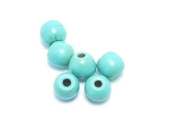 Pearl 6mm TURQUOISE round shape