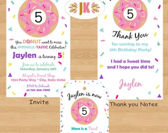 Donut Invitations  and more... DIGITAL FILE (S) UPRINT