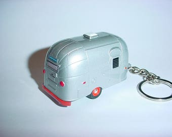 3D AIRSTREAM Bambi Trailer custom keychain by Brian Thornton keyring key chain finished in all silver