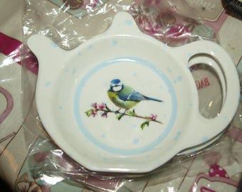 Blue Tit Tea Bag Rest