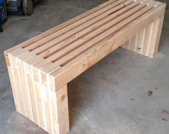 "Indoor Outdoor 72"" Bench Plans DIY Fast and Easy to build - 2x4 wood construction"