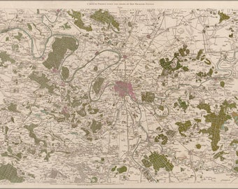 Poster, Many Sizes Available; Map Of Paris And Environs 1793