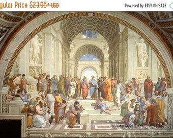 40% OFF SALE Poster, Many Sizes Available; School Of Athens, By Raphael 1511-12, Plato Aristotle Socrates