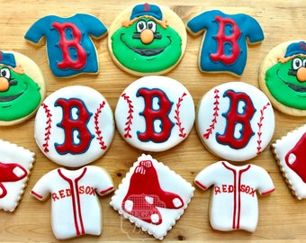 Baseball Cookies - Boston Red Sox or Your team choice!