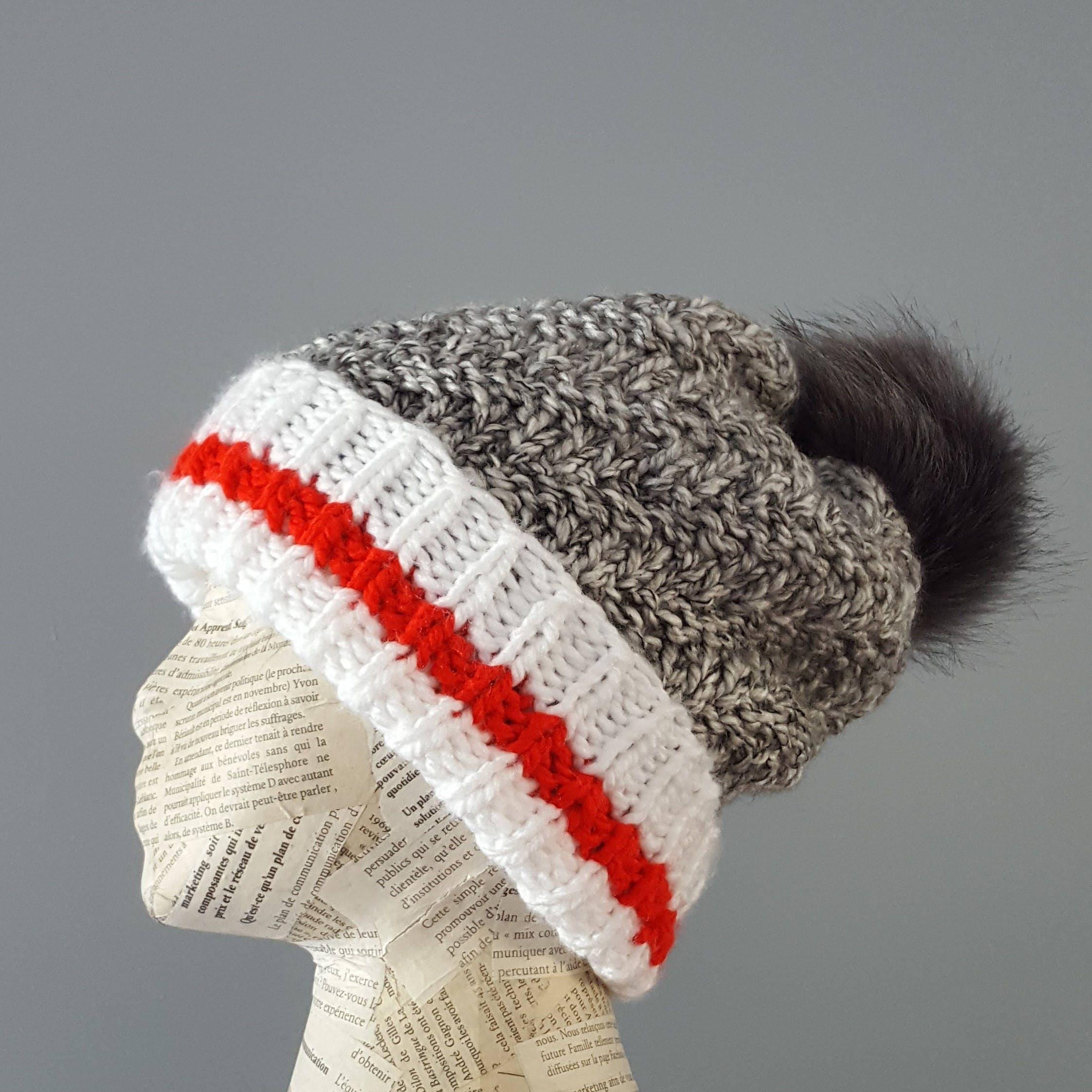 Work Sock Hat Knitting Pattern : Pattern knit hat beanie knitting working socks
