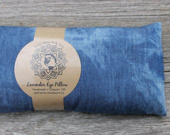 Lavender Eye Pillow • Blue Tie Dye • Yoga • Calm  • Eye Cover • Meditation • Organic Body Care