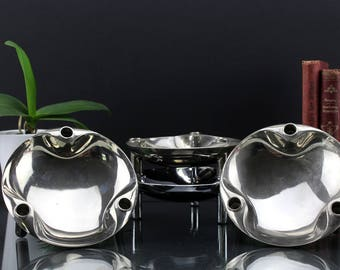 One BMF Nagel Variante S44 chrome plated bowl for use with Nagel S22 candleholders