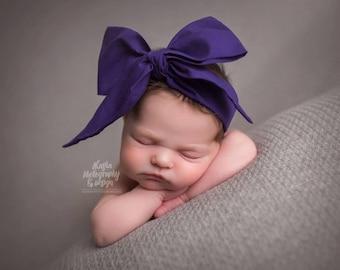GRAPE Gorgeous Wrap- headwrap; fabric head wrap; purple head wrap; newborn headband; baby headband; toddler headband; baby headwrap