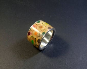 Ring for the artist from pencils