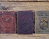 Youth School Books - Set of 3 - Early 1900s