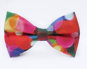 Lights Bow Tie | Bow Tie for Men | For Him | Bowtie | Self Tie | Dog Bow Tie | Mens Bow Tie | Boys Bow Tie | Wedding Bow Men