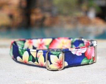 Floral Dog Collar, Hawaiian Dog Collar, Female Dog Collar, Male Dog Collar, Large Dog Collar, Small Dog Collar, Dog Collar, Pet Collar