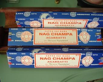 Nag Champa incense authentic, aromatic, smudging, purification, spirituality, meditation