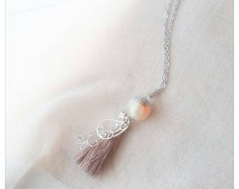 Eternal rose petals and Swarovski Crystal bohemian necklace