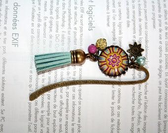 Mandala psychedelic rose bookmark