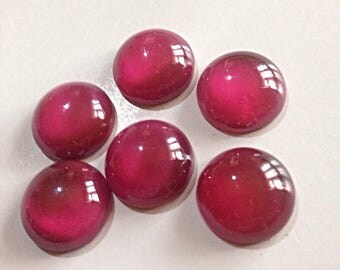 18mm  Large pink round cabochons Vintage Czech glass stones