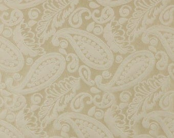 SCALAMANDRE ANGELIQUE PAISLEY Silk Damask Fabric 10 Yards Ivory