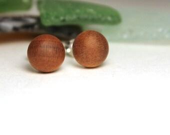 Wood Stud Earrings