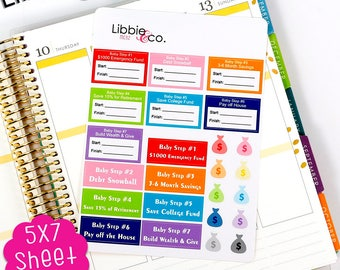MC82 7 Baby Step Stickers!  Perfect for the Erin Condren Planner!!!
