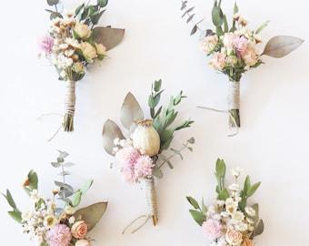 Dried Floral Buttonhole