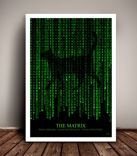 The Matrix //  The Wachowskis // Keanu Reeves // Minimalist  // Unique A4 & A3 Art Print