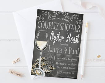 Oyster Roast Invitation / Digital Printable engagement party Invite for couples shower / DIY Party