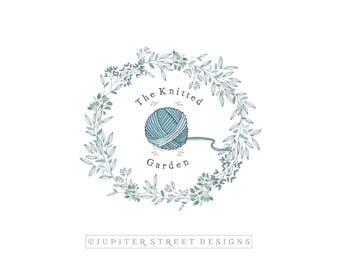Logo Design-Wreath Logo-Knitting Logo-Business Branding